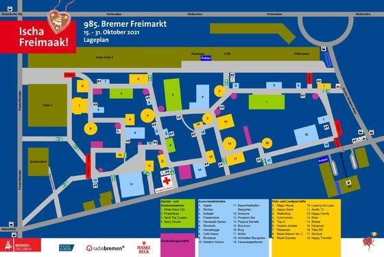 Bremer Freimarkt 2021: Die Fahrgeschäfte